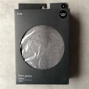 Free Press ~ Ultimate Sheer Black Tights Small